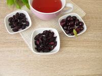 Fruit tea with dried cornelian cherry