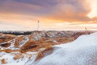 Sunrise on a winter morning at Lyngvig Fyr