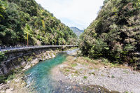 road along river to Longsheng Hot Springs