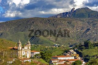 Churches and mountains of Ouro Preto