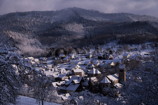 Winter in a Little Village in the Black Forest, Germany