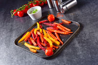 colorful vegetable fries from the oven