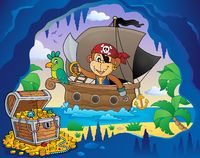 Boat with pirate monkey theme 4