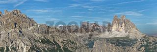Drei Zinnen, Dolomiten, Sexten, Provinz Südtirol, Region Trentino-Südtirol, Italien, Europa