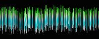 Fantastic abstract eco stripe panorama background design illustration