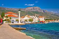 Kastel Stari landmarks and waterfront view
