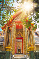 Golden entrance to the Buddhist temple