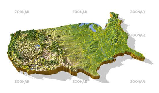 D Topographical Map Of Us Topographic Map - Topagraphical map of us
