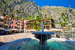 Limone sul Garda fountain and square view