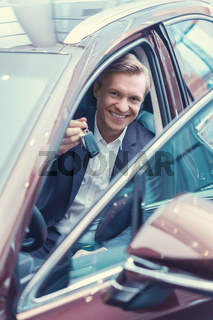 Driver with car keys