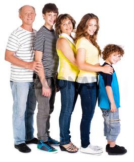 Attractive, happy caucasian american family