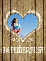 wooden heart woman octoberfest