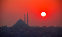 Sunset and Yavuz Selim mosque