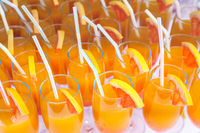 orange juice cocktail in a glasses