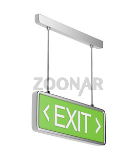 Exit sign on white background