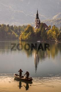 Church Of Saint Mary Lake Bled Slovenia