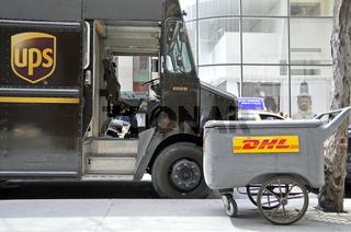 ups und DHL Kurierdienst