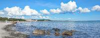 Beach of Binz on Ruegen Island,baltic Sea,Mecklenburg western Pomerania,Germany