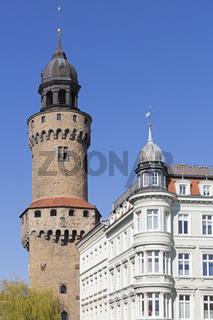 Der Reichenbacher Turm in Görlitz, Ostdeutschland