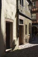 Alleyway in old town of Colmar