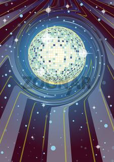 Party Flyer Disco Ball Supernova