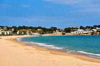 Coastline of S'Agaro, is a resort on the Costa Brava. Catalonia, Spain