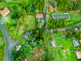 Aerial View on Rural Countryside