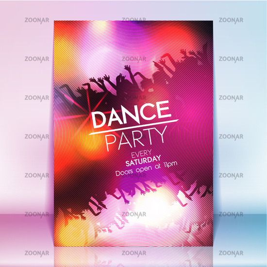 Photo Dance Party Poster Background Template - Vector