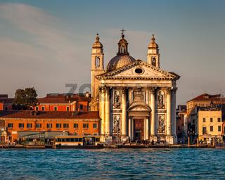 Venice Skyline and Santa Maria del Rosario Church, Venice, Italy