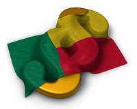 flagge von benin und paragraphsymbol - 3d illustration