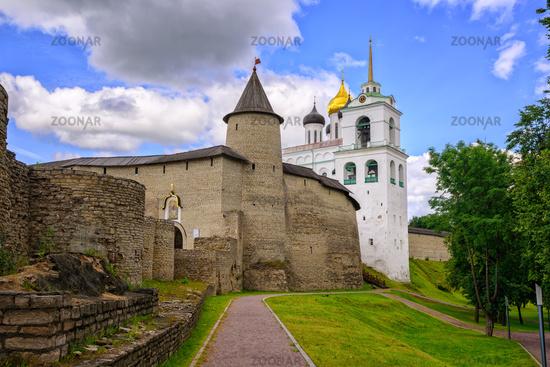 The Pskov Kremlin with Trinity Church, Russia