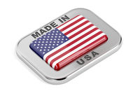 Made in USA, silver badge