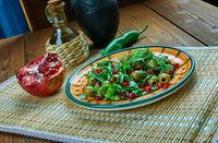 Turkish salad with pomegranate.