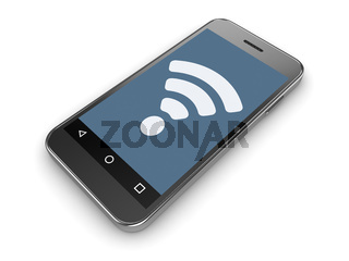 Wifi Sign on Mobil Phone Screen