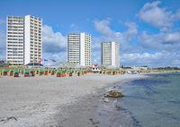 Beach of Suedstrand on Fehmarn,baltic Sea,Schleswig Holstein,Germany