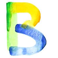 Vivid watercolor alphabet