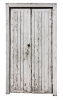White ragged door