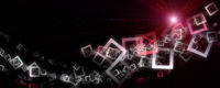 Abstract square panorama background design with light