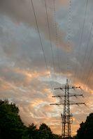 power pole with base radio station