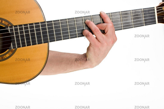 Photo Male Hand Holding A Chord On A Classsical Guitar Image 700797