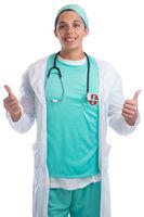 Arzt Doktor Beruf Daumen hoch Freisteller