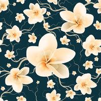 Seamless Pattern Bloom Flowers