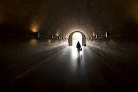 Blick durch einen Tunnel