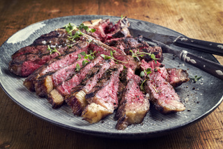 Wagyu T-Bone Steak on Plate
