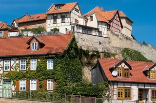 Blick auf den Münzenberg von Quedlinburg