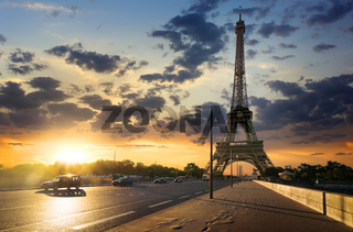 Road to Eiffel Tower