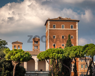 Palazzo di Venezia and Typical Rome Skyline, Rome, Italy