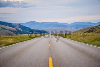 road through flathead  reservation montana