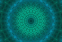 Radial dotted pattern