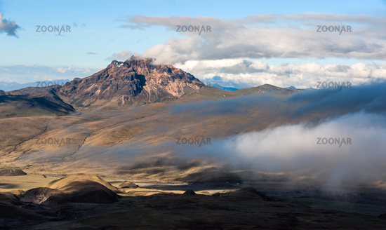Sinchulagua Volcano,  Andean Highlands of Ecuador, South America